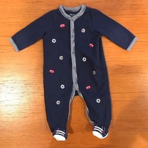 ⚡️3 for $10⚡️Little Me Sports Footie Jammie 6mo